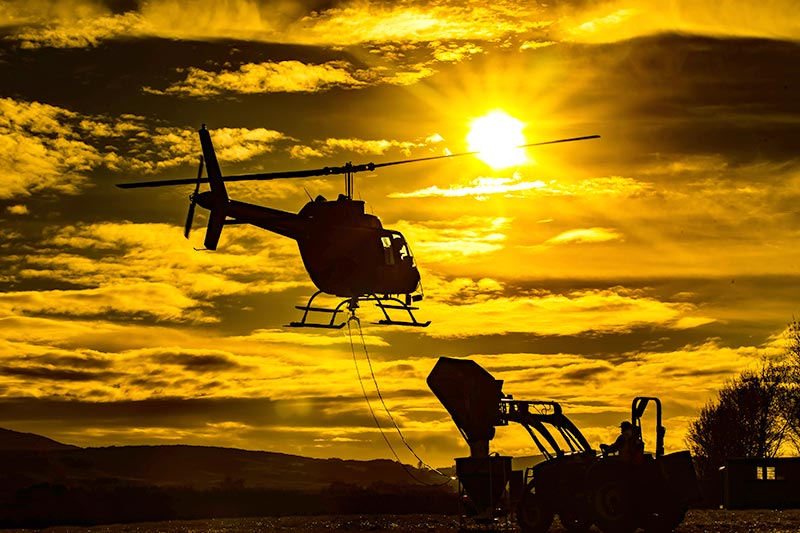 Dry Speading Helicopter Pennsylvania