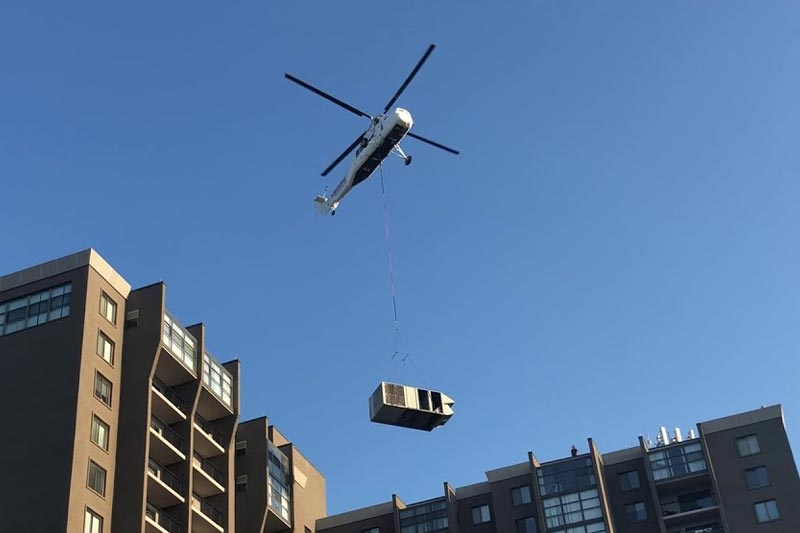Helicopter HVAC Lift in Philadelphia