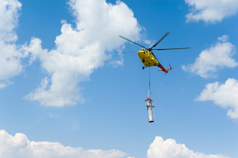 Tower Construction by Helicopter in Pennsylvania